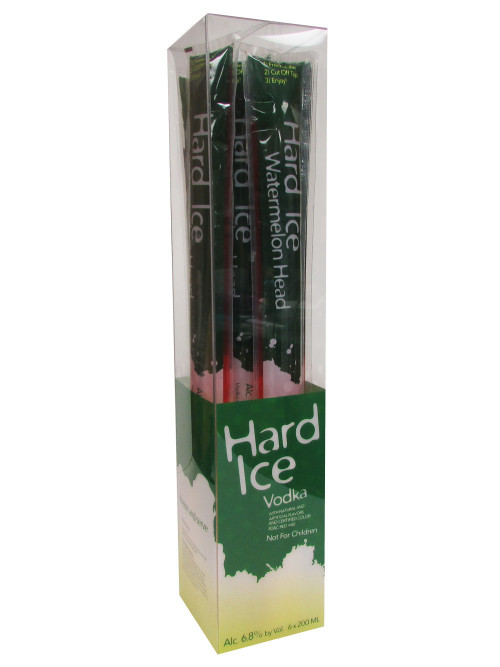 Hard Ice Vodka Watermelon Head 6Pk-200ml Freezer Pops
