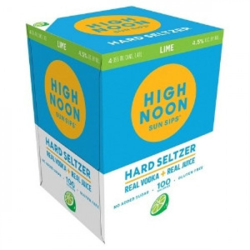 High Noon Sun Sips Lime Vodka & Soda 4Pk 355ml Cans
