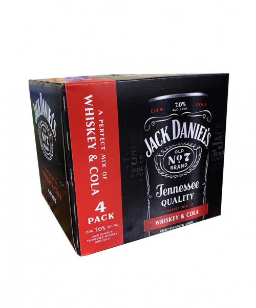 Jack Daniels 4Pk Whiskey & Cola 12oz. Cans