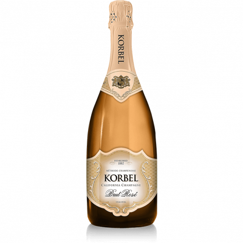 Korbel Brut Rose California Champagne 750ml NV