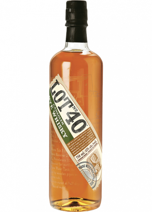 Lot 40 Canadian Rye Whisky 750ml