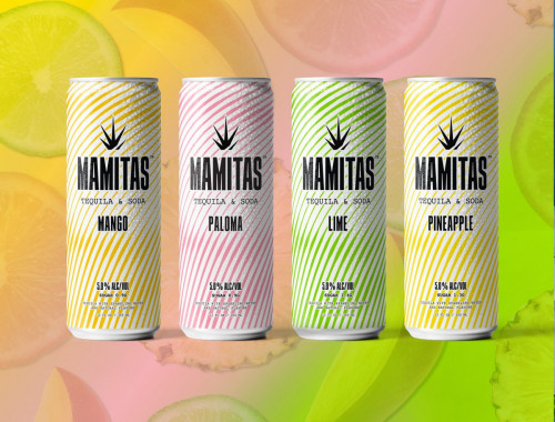Mamitas Tequila & Soda Variety Hard Seltzer Case 8Pk 355ml Cans
