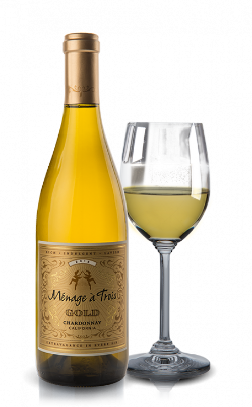 Menage A Trois Gold Chardonnay 750Ml NV