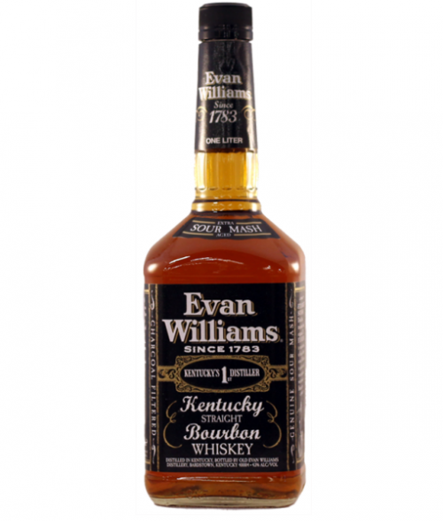 Evan William's Black Label Bourbon 1L
