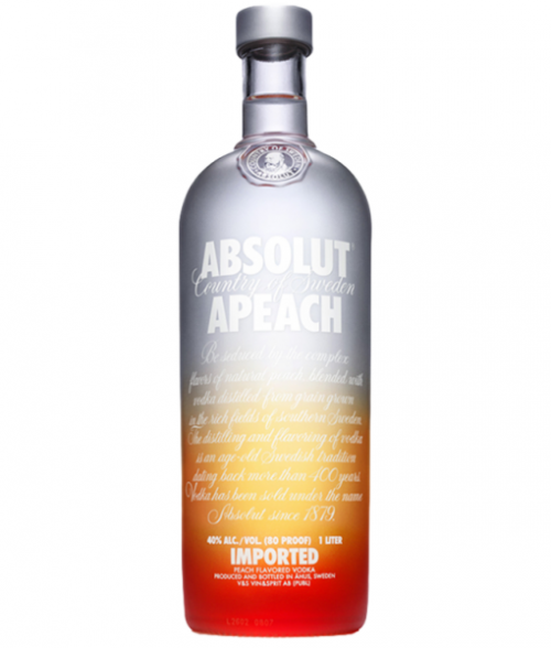 Absolut Apeach Vodka 1L