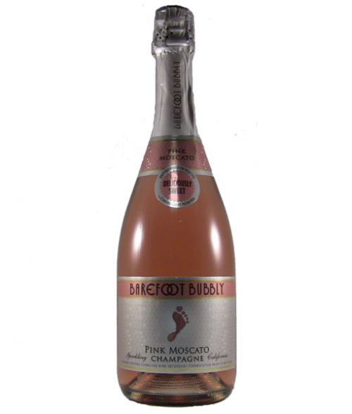 Barefoot Bubbly Pink Moscato 750ml NV