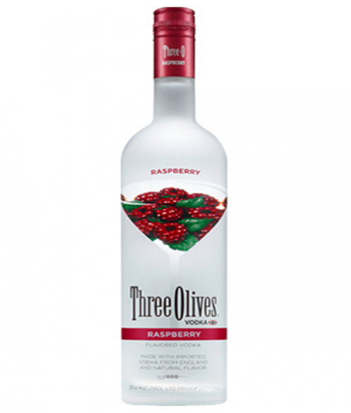Three Olives Raspberry Vodka 1L