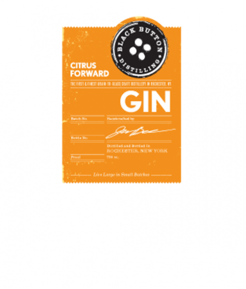 Black Button Citrus Forward Gin 750Ml