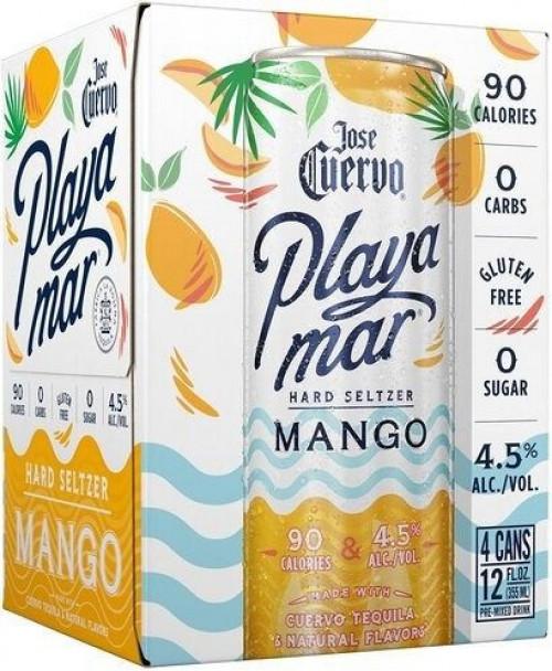 Jose Cuervo Playa Mar Mango Seltzer 4Pk - 12oz Cans