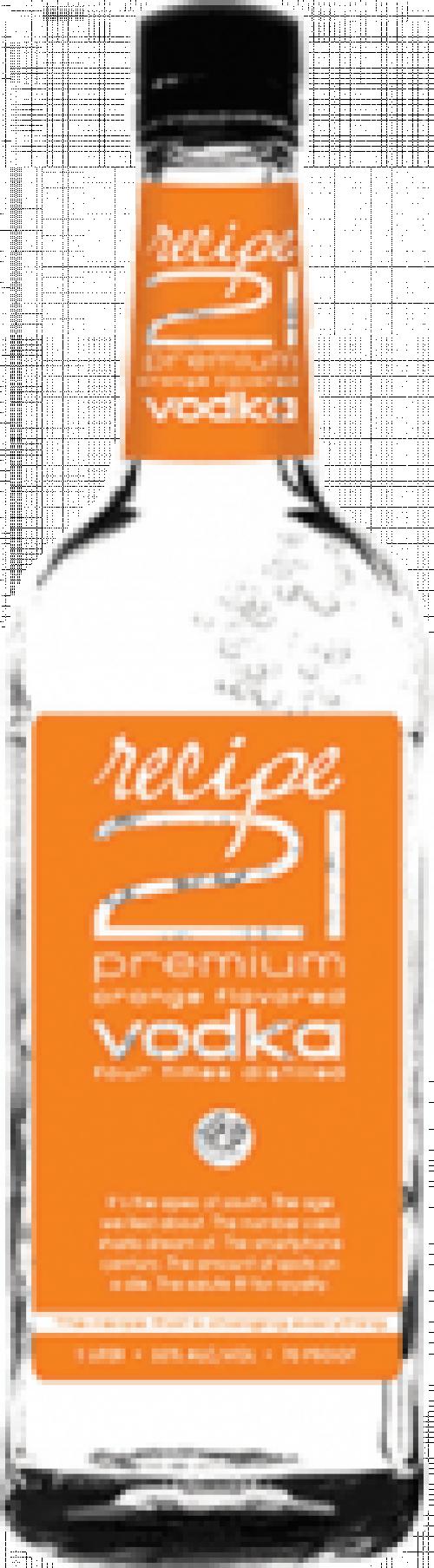 Recipe 21 Orange Vodka 1.75L