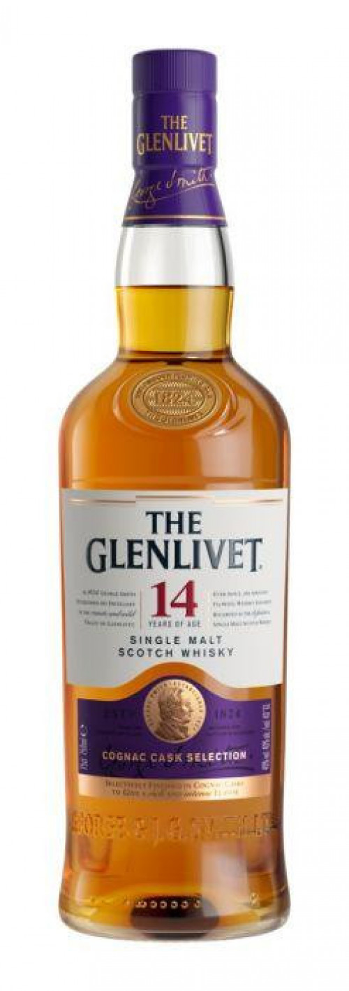 Glenlivet 14Yr Cognac Cask Selection Single Malt Scotch 750ml