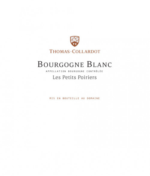Thomas Collardot Bourgogne Blanc Les Petits Poiriers 750ml