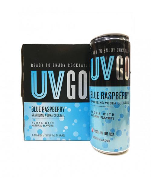 UV GO 4 Pack Blue Raspberry Sparkling Vodka Cocktail