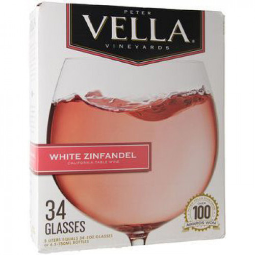 Peter Vella White Zinfandel 5L Box