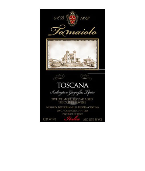 2015 Tomaiolo Toscana Red 750ml