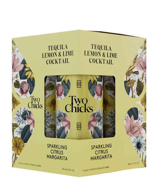 Two Chicks Sparkling Citrus Margarita 4Pk 355ml Cans