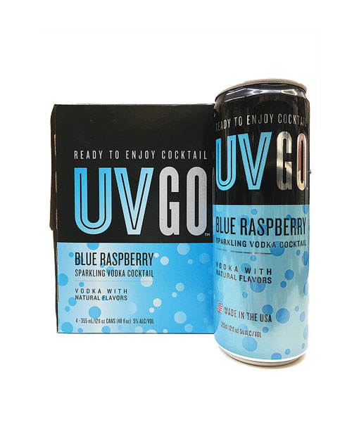 UV GO 4 Pack Blue Raspberry Sparkling Vodka Cocktail