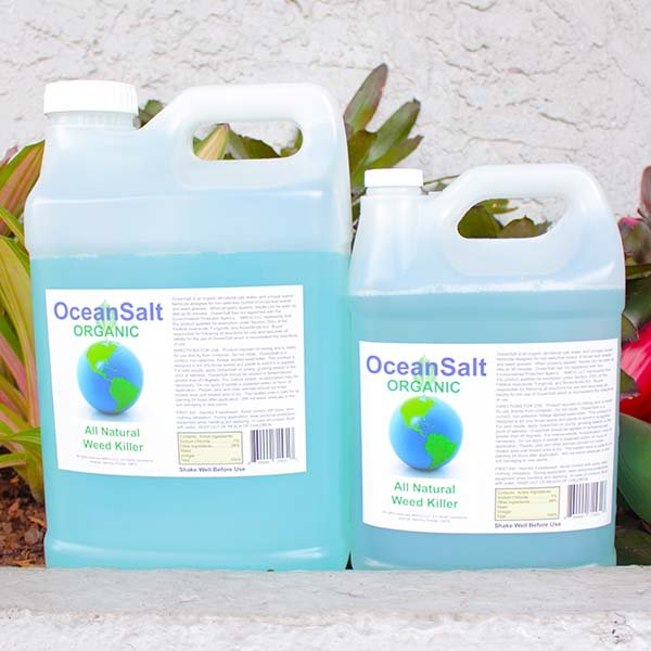 Ocean Salt Organic Weed Killer, two sizes