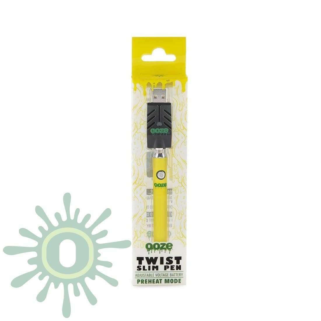 Ooze Slim Pen TWIST Battery w/ USB Smart Charger - Yellow