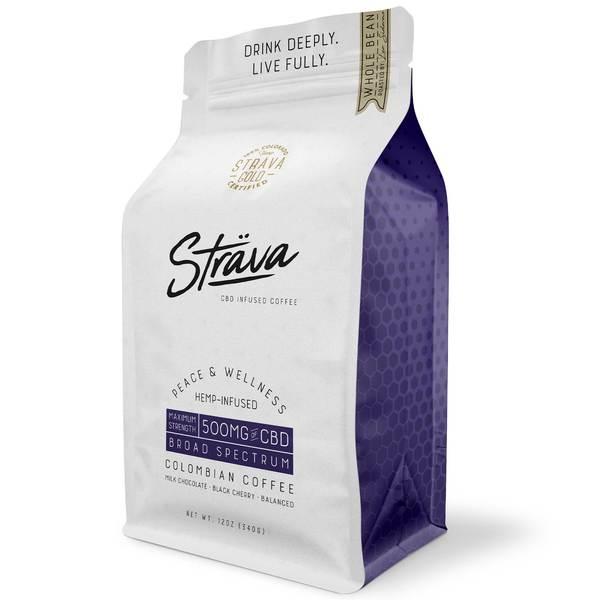 CBD Coffee (Whole Bean) - 20mg CBD/Serving - Medium Roast