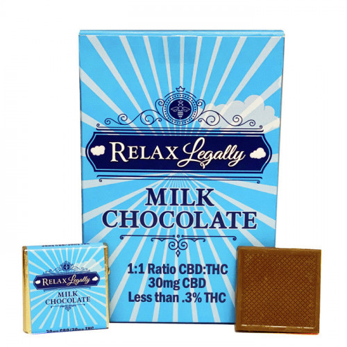 """Bee's Knees """"Relax Legally"""" Milk Chocolate"""