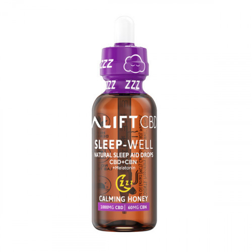 Lift Sleep Well natural Sleep Aid Drops CBD+CBN+Melatonin - 1,000mg