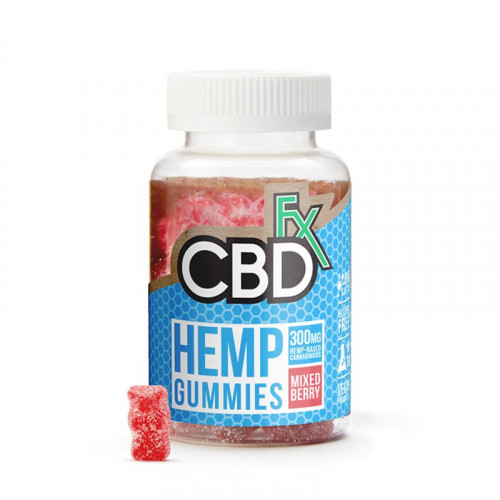 Hemp (Red) Gummies - 60ct - Bottle - 300mg