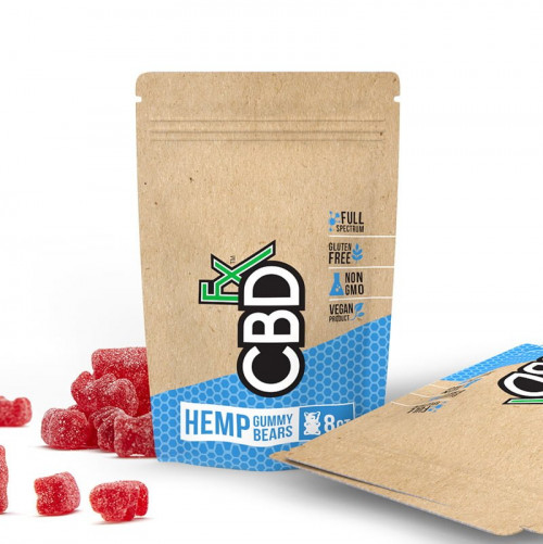 Hemp (Red) Gummies - 8ct Pouch  40mg