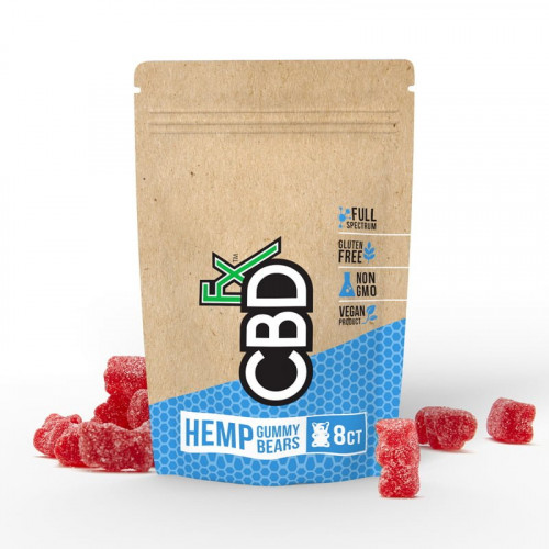 Hemp (Red) Gummies - 8ct Pouch  40mg