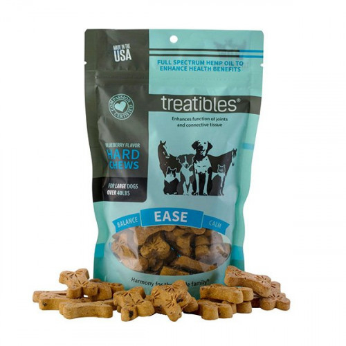 Treatibles Ease (Blueberry Flavor) Hard Chews - Canine