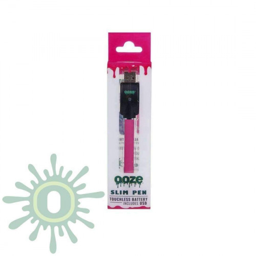 Ooze Slim Pen Touchless Battery w/ USB Charger - Pink