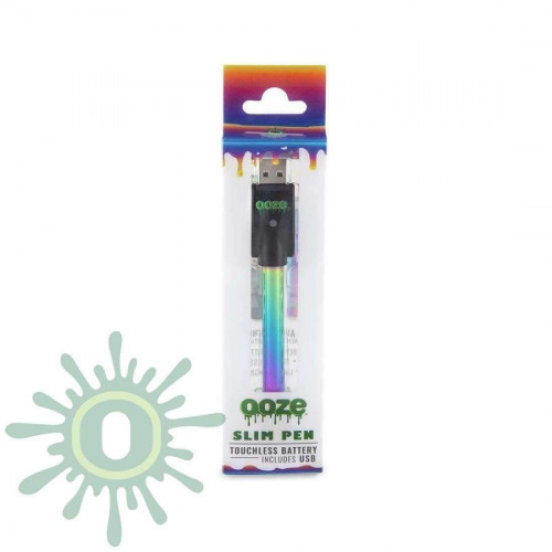 Ooze Slim Pen Touchless Battery w/ USB Charger - Rainbow