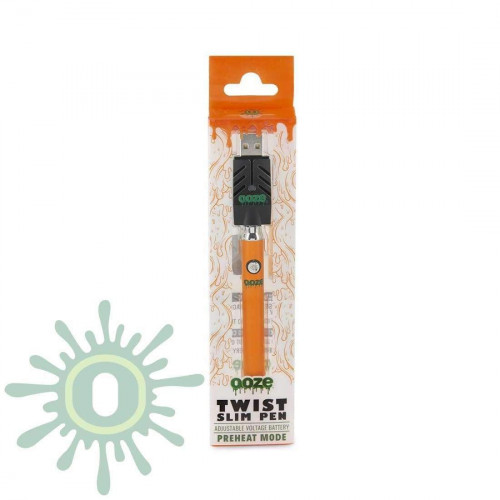 Ooze Slim Pen TWIST Battery w/ USB Smart Charger - Orange