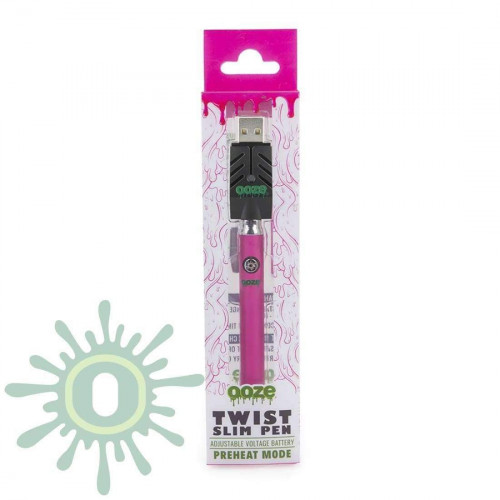Ooze Slim Pen TWIST Battery w/ USB Smart Charger - Pink