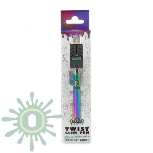 Ooze Slim Pen TWIST Battery w/ USB Smart Charger - Rainbow