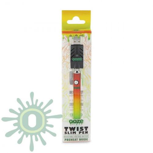 Ooze Slim Pen TWIST Battery w/ USB Smart Charger - Rasta