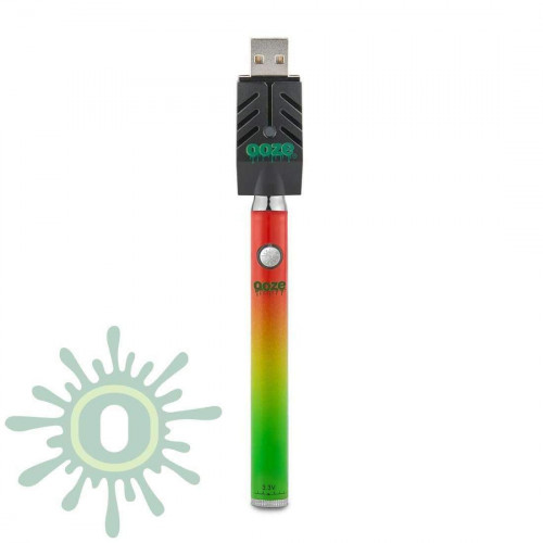 Ooze Slim Pen TWIST Battery w/ USB Smart Charger - Rasta