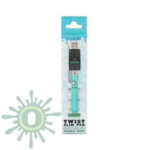 Ooze Slim Pen TWIST Battery w/ USB Smart Charger - Teal