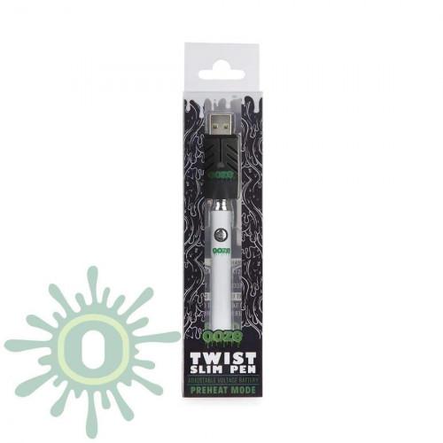 Ooze Slim Pen TWIST Battery w/ USB Smart Charger - White