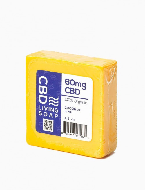 CBD Living Soap 60mg Coconut Lime