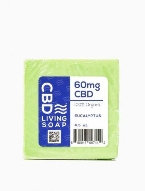 CBD Living Soap 60mg Eucalyptus