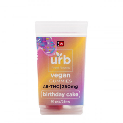Urb Delta 8 Vegan Birthday Cake Gummies