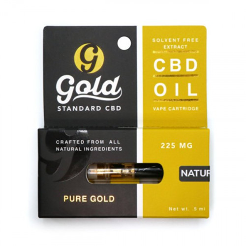 Gold Standard CBD Vape Cartridge - Natural