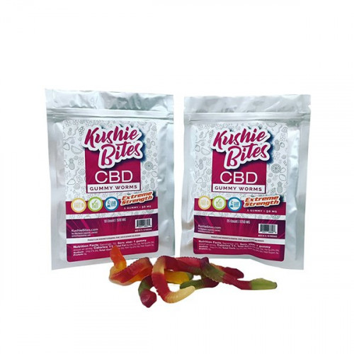 Kushie Bites Gummy Worms