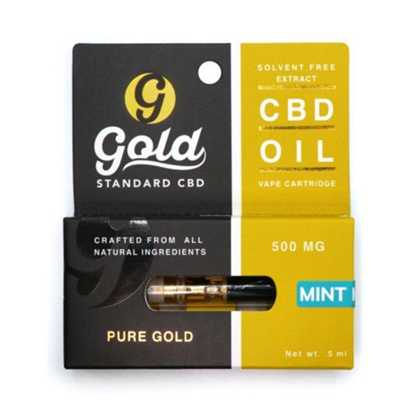 Gold Standard CBD Vape Cartridge - Mint