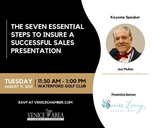 The Seven Essential Steps To Insure A Successful Sales Presentation Luncheon - August 2021