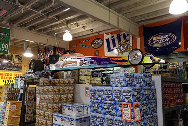 Inside Southtown Beverage store