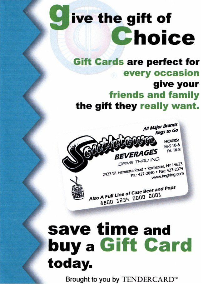 Southtown Beverage Gift Cards