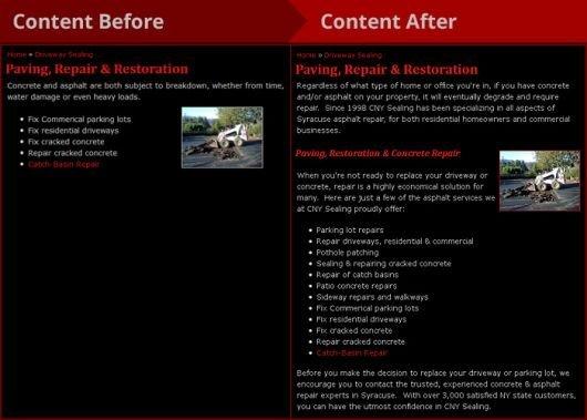 Website Content Upgrade