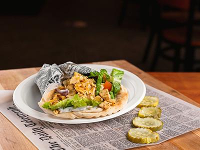 Pitas and wrap menu